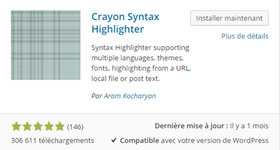 afficher du code dans un contenu wordpress