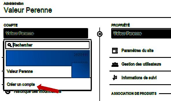 Création d'un site : réglages google analytics