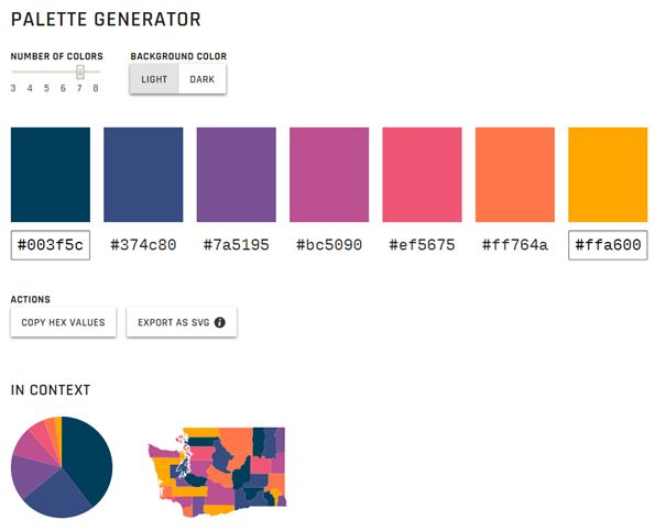 Palette generator, par Learn UI Design