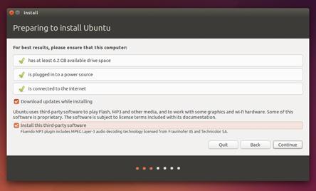 Installer Ubuntu - ecran 2