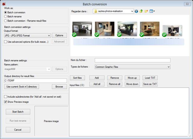 irIfanview batch conversion 4