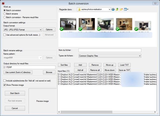 irIfanview batch conversion 5