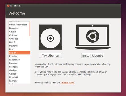 Installer Ubuntu - Ecran 1