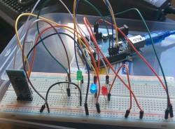 Prototype de leds commandées par bluetooth