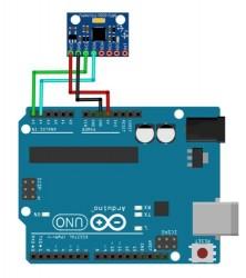 Cablage Arduino uno et gyroscope gy-521
