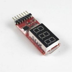 Afficheur-testeur tension batteries LIpo 2S à 6S