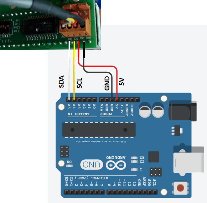 Connexion Arduino et afficheur 7 segements CSG-4S
