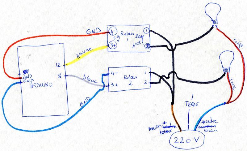 Commande de deux lampes par arduino en liaison série