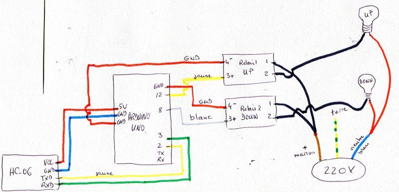 Commande de deux lampes par arduino Uno en bluetooth (HC-06)