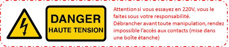 Attention Danger électrique