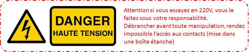 Attention Danger électrique