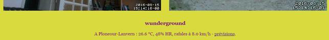 Affichage PHP de données via l'API Wunderground