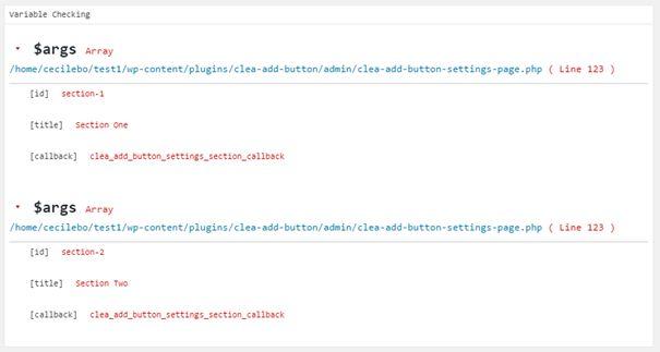 Affichage de Check Variable dans la page Query Monitor