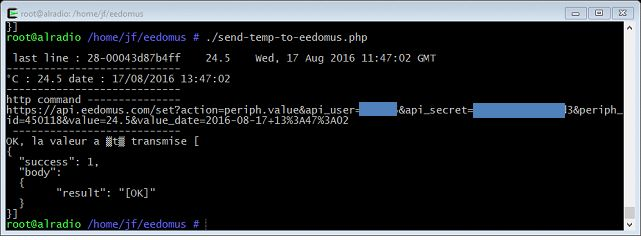 PHP : envoi de données à l'Eedomus
