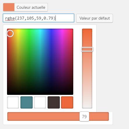Un color picker pour les réglages de notre extension WordPress