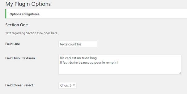 """Affichage d'un champs """"select"""""""