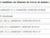 tests en php de manipulation de tableau