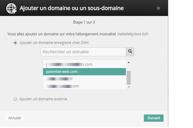 OVH ajouter un sous-domaine à un WordPress multisite - 2