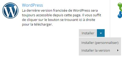 Plesk : installer WordPress en mode personnalisé
