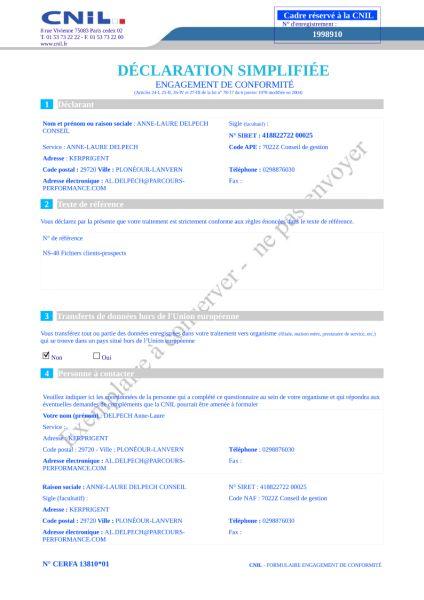 Declaration cnil site de rencontre