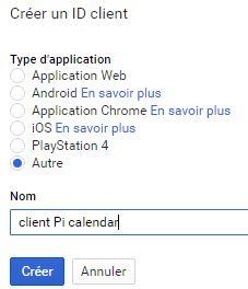 Google calendar API : ajouter un client