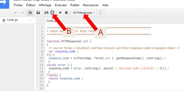 Régler le déclencheur d'un script Google Sheets