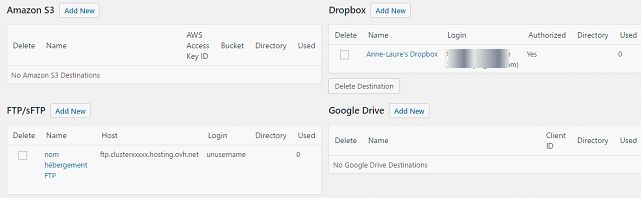 Destinations Snapshot Pro (WPMU DEV)