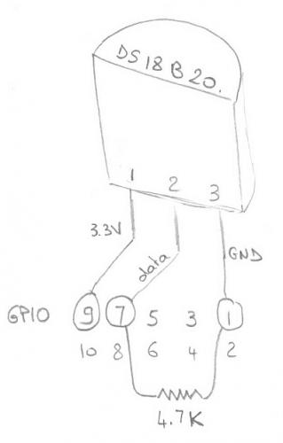 Câblage d'un capteur de température DS18B20 à un Raspberry Pi