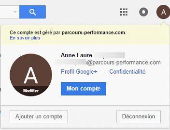 "sauvegarde des mails de Gmail : accès au menu ""sauvegarde"""