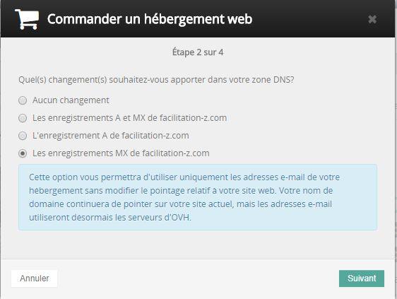 OVH : activer l'hébergement gratuit pour les mails uniquement
