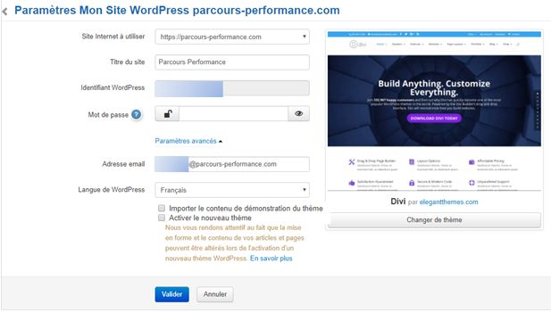 Installer Divi sur un site WordPress hébergé par Infomaniak
