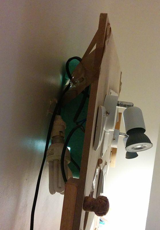 prototype d'éclairage de chambre : vue de côté