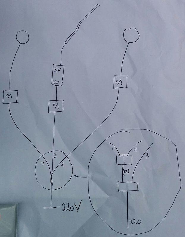 Schéma électrique du prototype d'éclairage de chambre