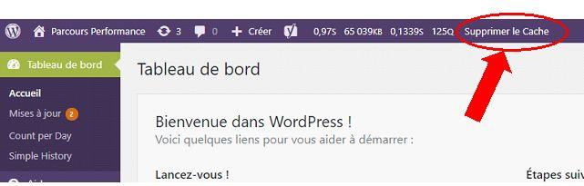 WordPress : supprimer le cache