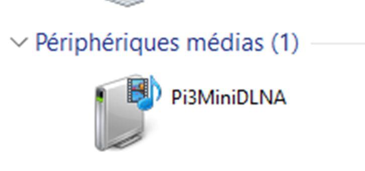 Un serveur mini DLNA sur mon Raspberry Pi