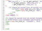 Code PHP pour créer une nouvelle icone de réseaux sociaux dans Divi